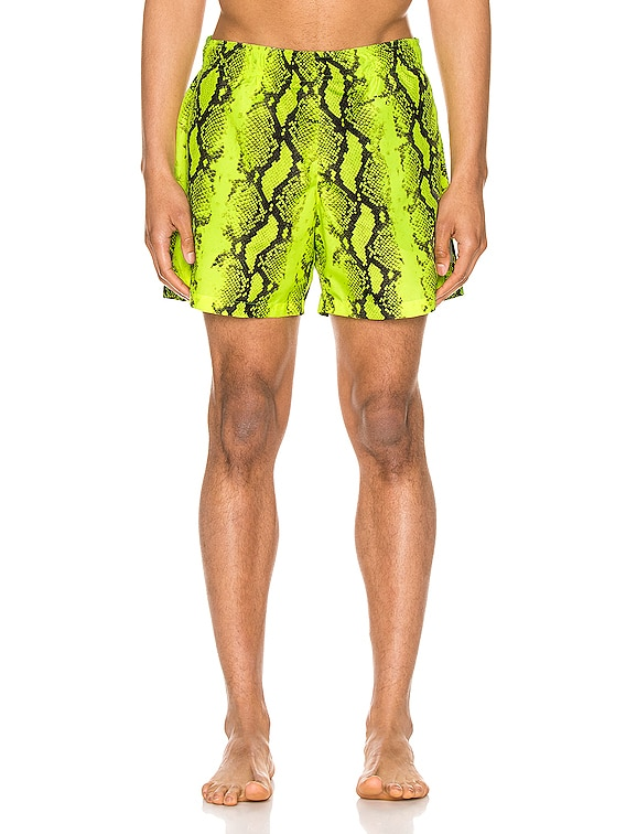 Snake Swimshorts in Yellow