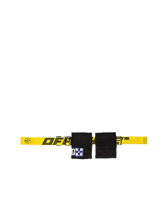 EQ Two Pocket Fanny Pack in Black & Yellow