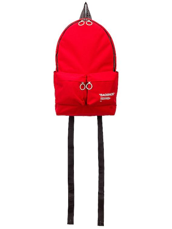 Quote Backpack in Red & Black