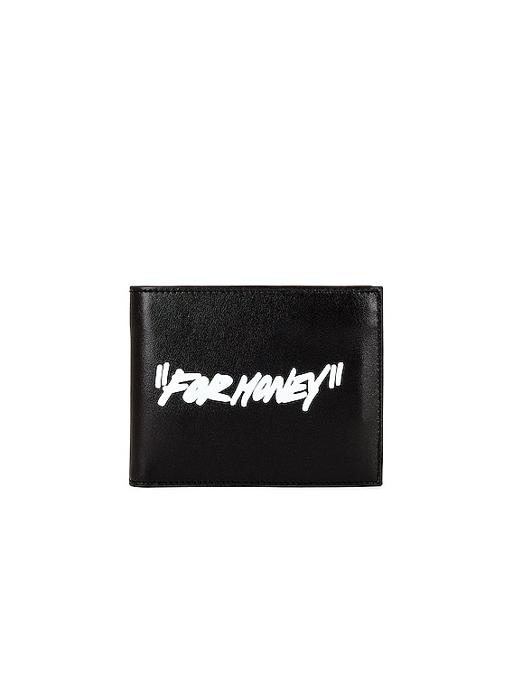 Quote Bifold Wallet in Black & White