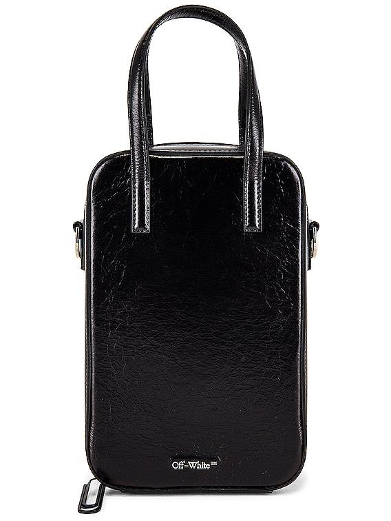 Vintage Leather Baby Tote Bag in Black