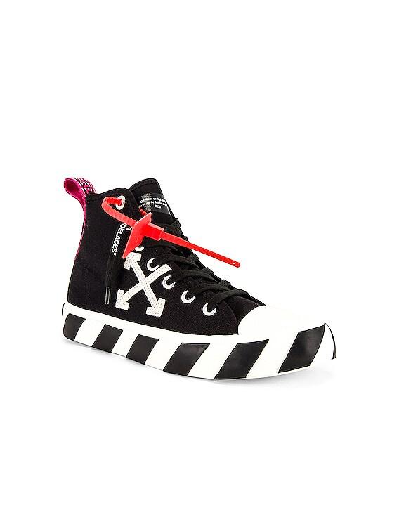 Mid Top Sneaker in Black & White