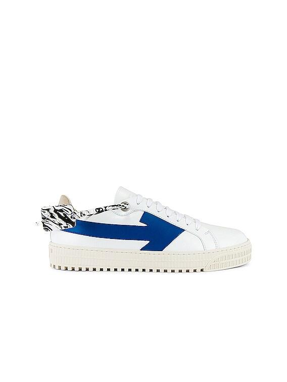 Arrow Sneaker in White & Blue