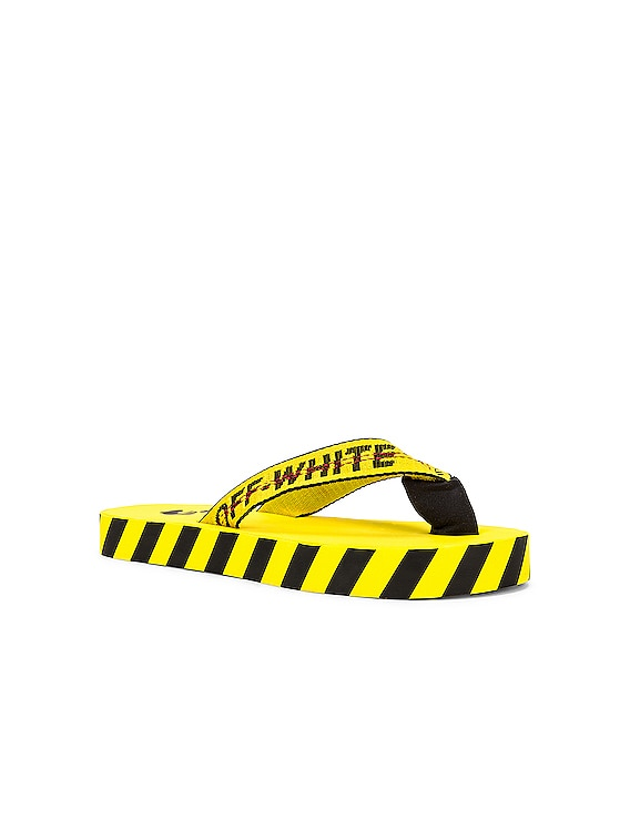 Flip Flop in Yellow & Black