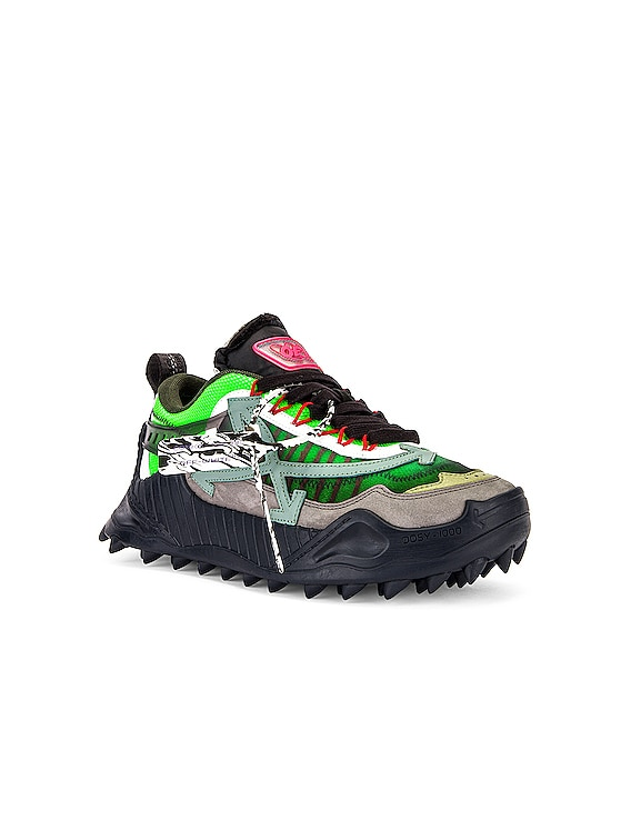 Odsy-1000 Sneaker in Anthracite & Green