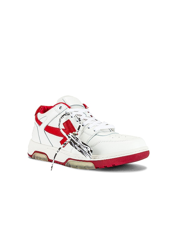 Out Of Office Sneaker in White & Red