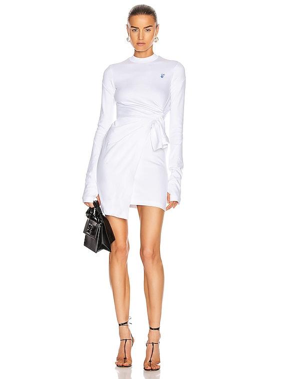 Mariacarla Wrap Dress in White