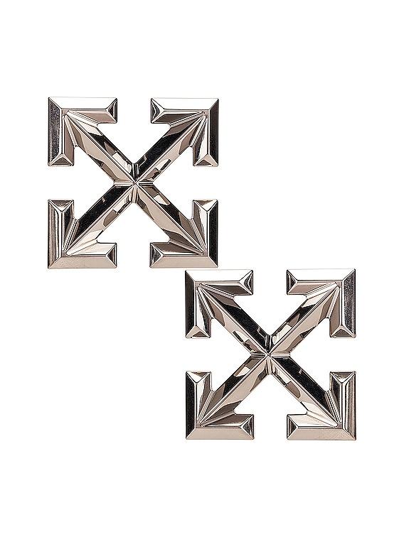 Big Arrow Earrings in Silver
