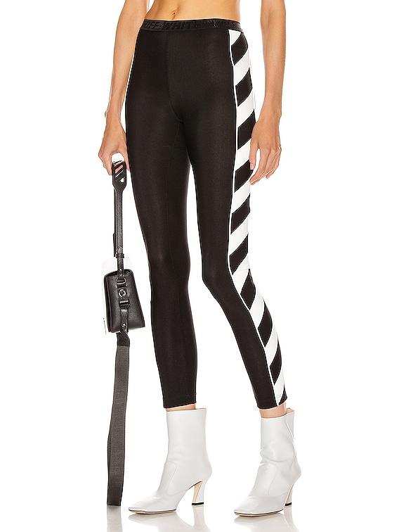 Diagonal Athletic Legging in Black & White