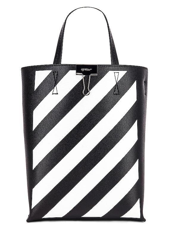 Diagonal Tote Bag in Black & White