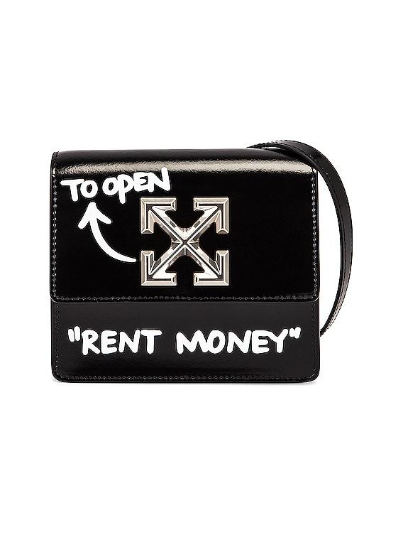 Turn to Open Jitney 0.7 Bag in Black & White