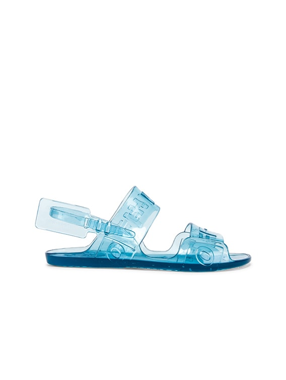 OFF-WHITE Zip Tie Jelly Sandal in Blue