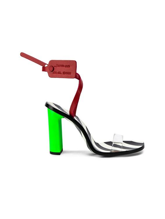 OFF-WHITE Zip Tie Capri Sandal in Green