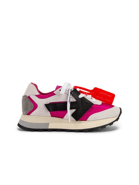 OFF-WHITE HG Runner Sneaker in Fuchsia