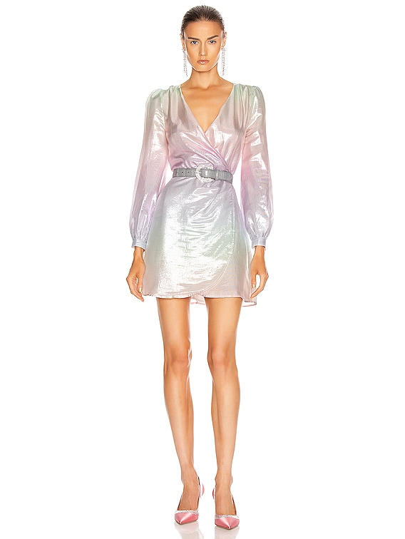 Meg Dress in Pastel Ombre Metallic