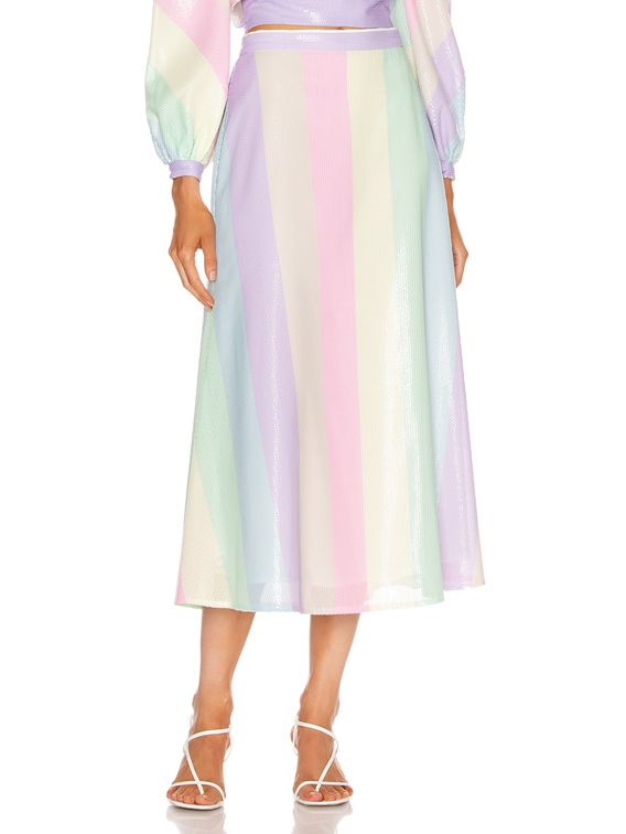 Penelope Skirt in Neapolitan Stripe
