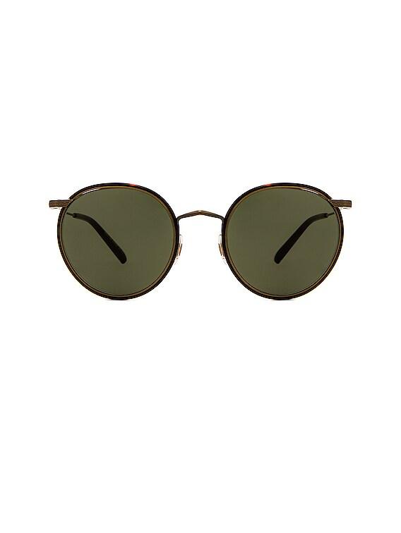 Casson Sunglasses in Antique Gold & Dark Mahogany