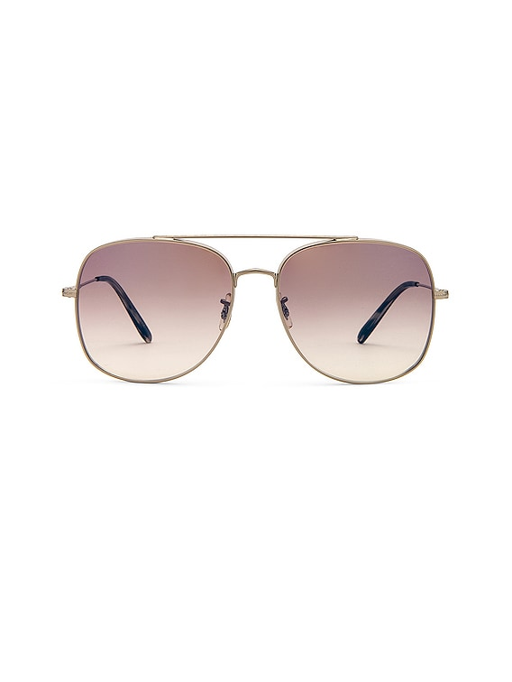 Taron Metal Sunglasses in Silver & Tan Gradient