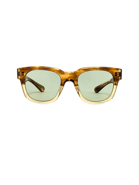 Shiller Sunglasses in Honey & Green Wash