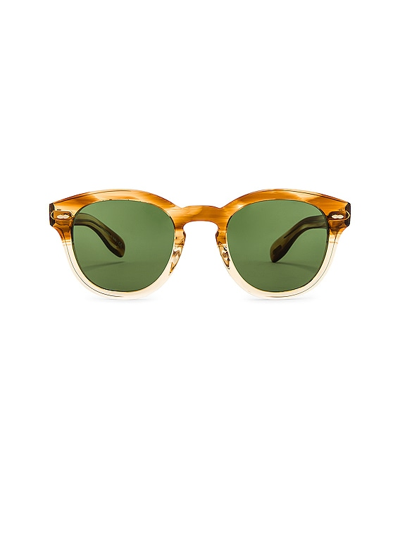 Cary Grant Sunglasses in Honey & Green Wash