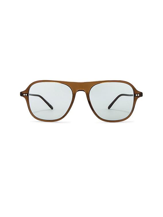 Nilos Sunglasses in Espresso & Seamist