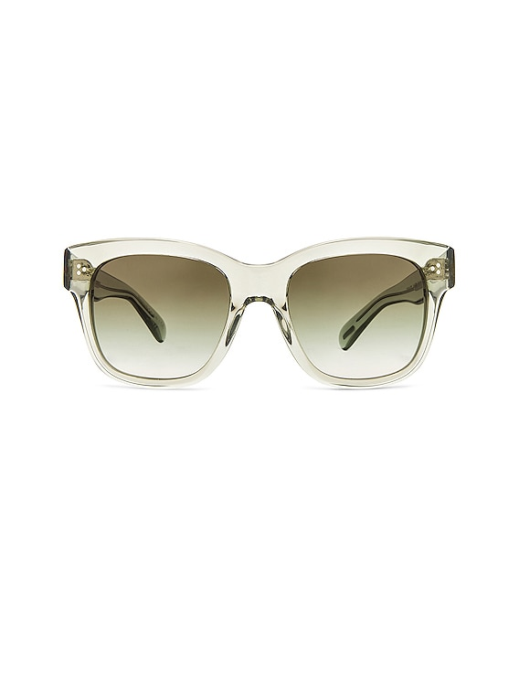 Mellery Sunglasses in Washed Sage & Olive Gradient