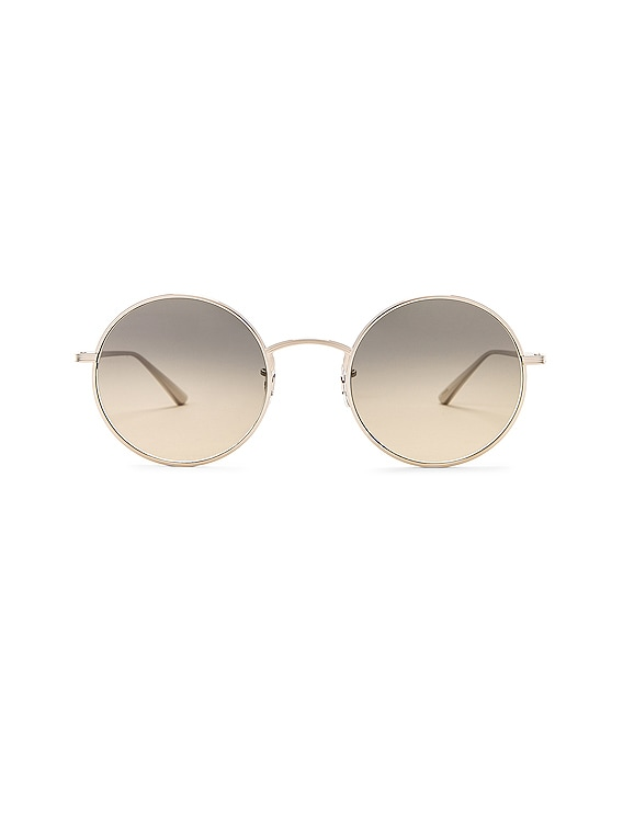 x The Row After Midnight Sunglasses in Silver & Shade Gradient