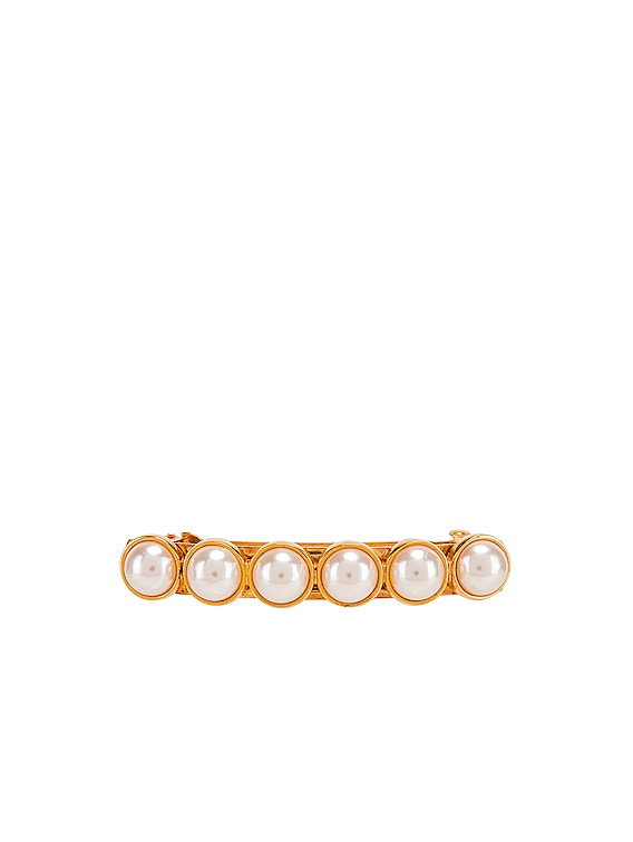 Pearl Hair Clip in Gold