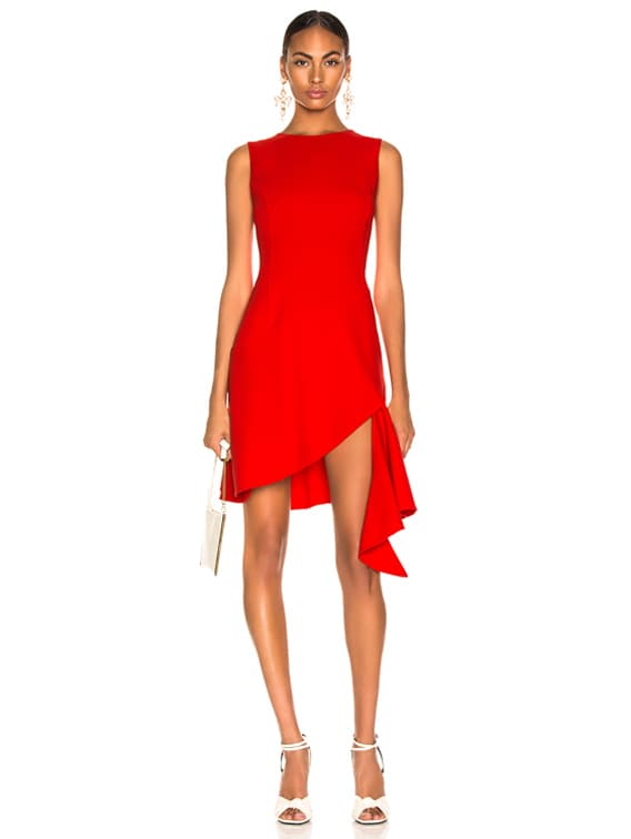 Slit Dress in Cayenne