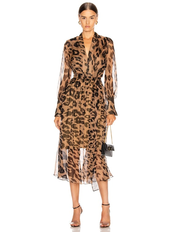Leopard Day Dress in Camel