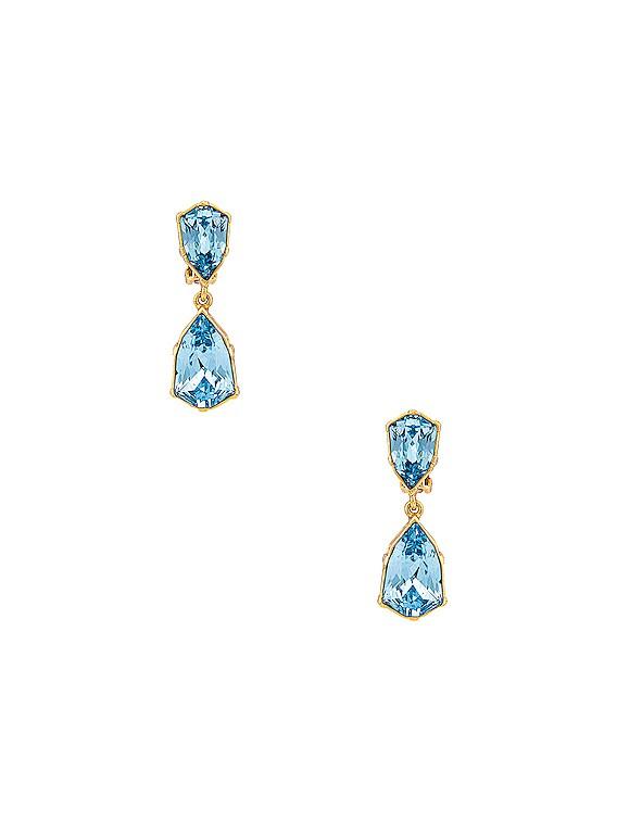Crystal Drop Earrings in Aquamarine