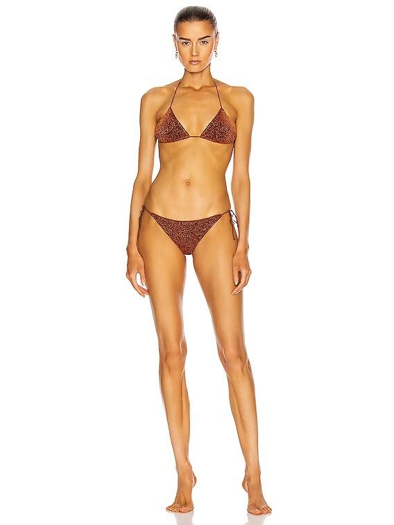 Lumiere Two Piece Bikini Set in Brown