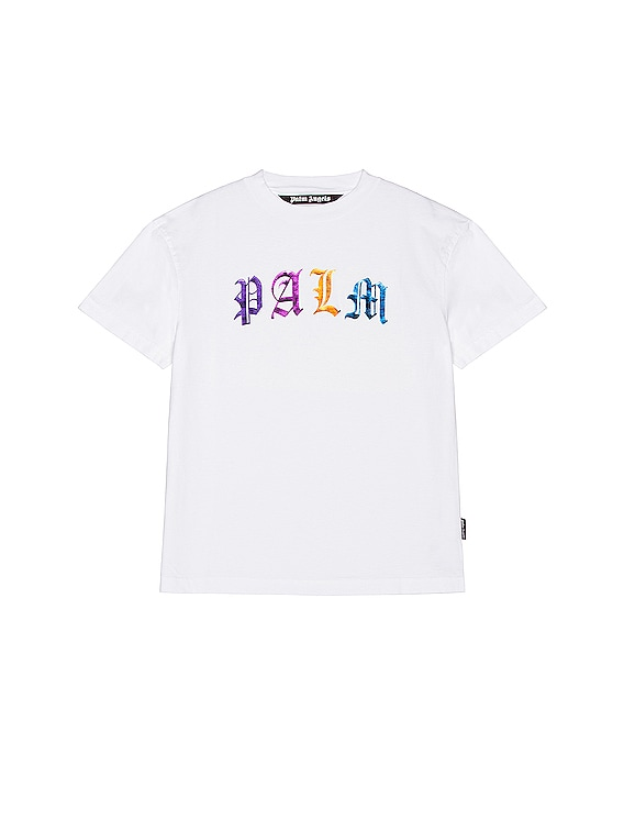 Gothic Logo Tee in White & Multi