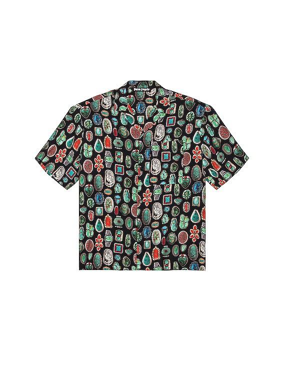Jewels Bowling Shirt in Black & Multi