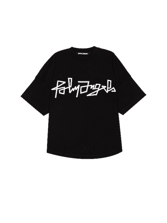 Desert Over Logo Tee in Black & White