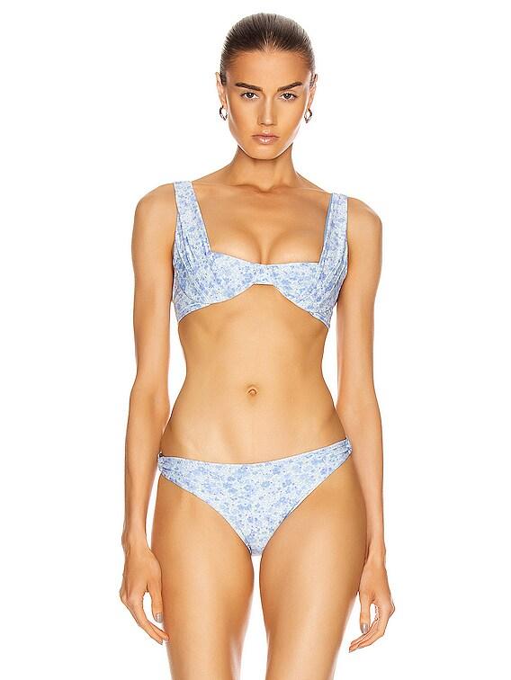 Cenit Bikini Top in Monet Blue
