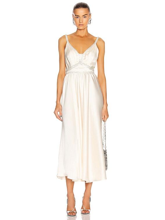 Light Satin Gown in Ecru