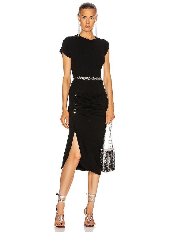 Side Ruched Dress in Black