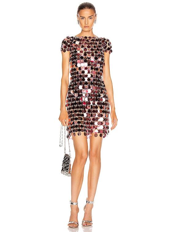 Sequin Mini Dress in Burgundy