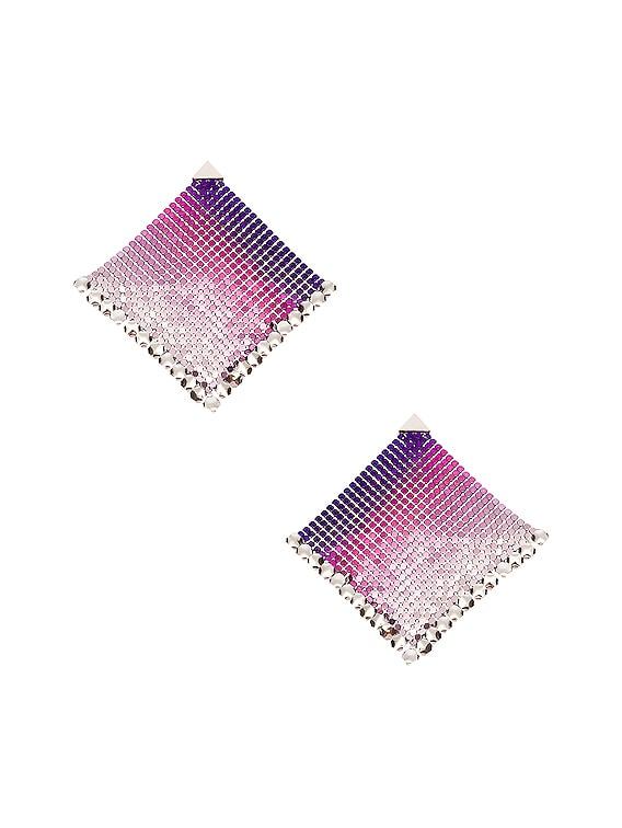 Pixel Flow Earrings in Purple Liquid Neon