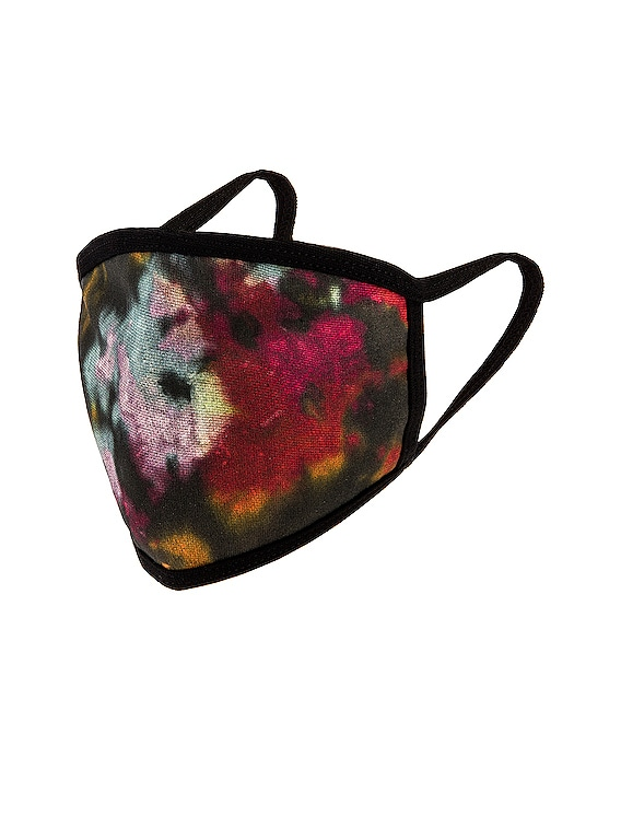 Black Ink Splatter Tie Dye Face Mask in Black Ink Splatter