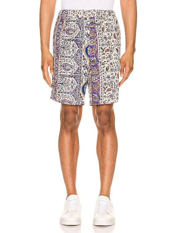 Iranian Print Shorts in Multi