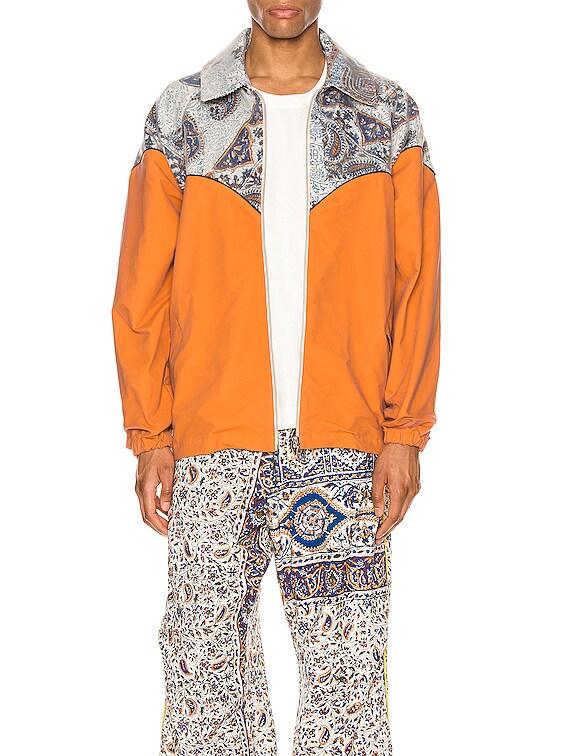 Cowboy Jacket in Orange & Multi
