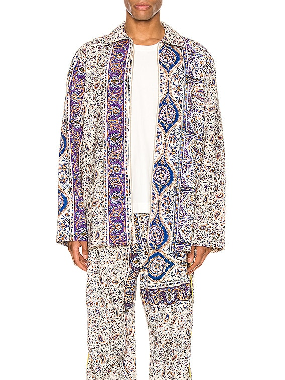 Iranian Print Overshirt in Multi