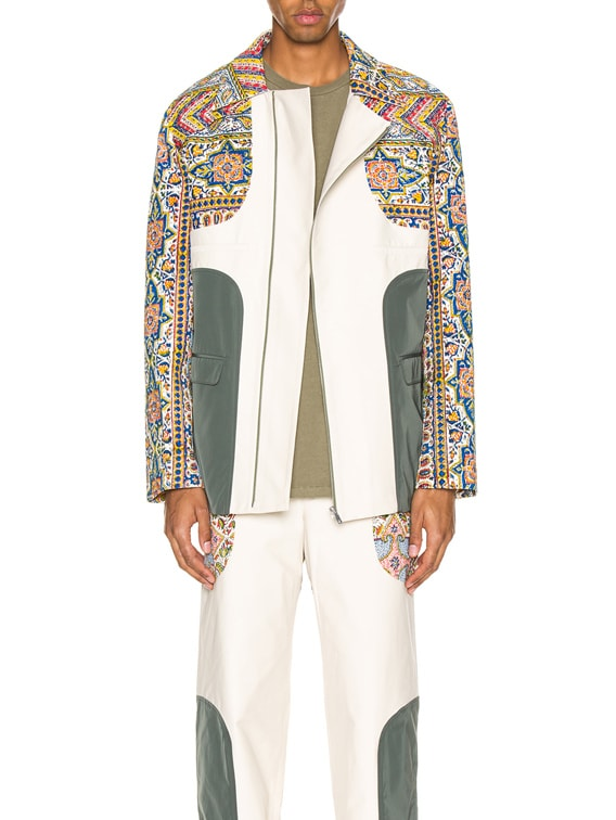 Iranian Print Panel Suit Jacket in Multi