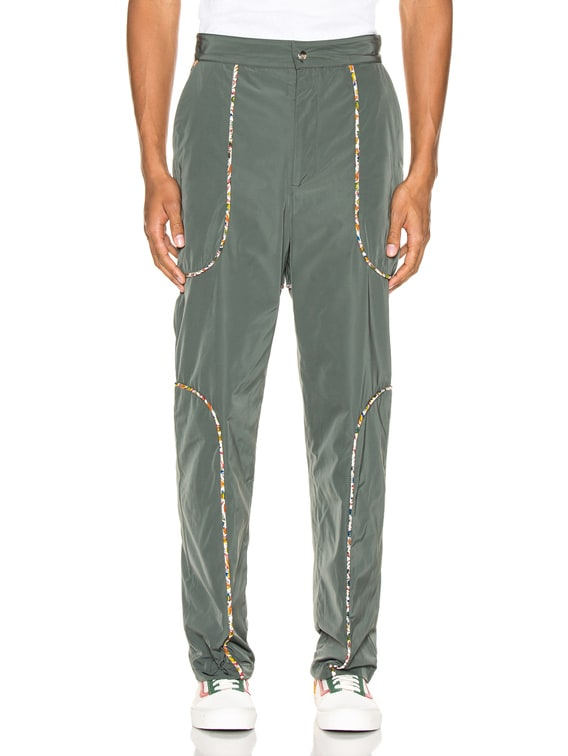 Piping Suit Trousers in Teal