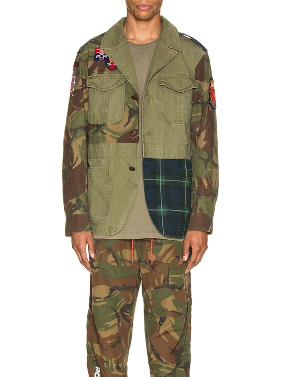 Hybrid Jacket in British Elmwood & Camo & Plaid