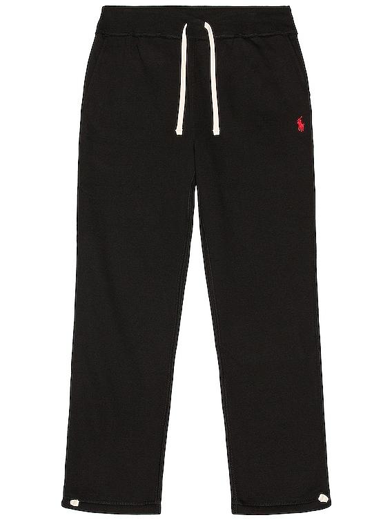 Fleece Pant in Polo Black