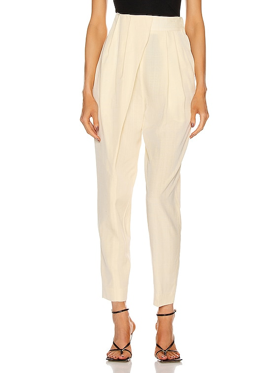 Draped Front Pant in Butter Melange