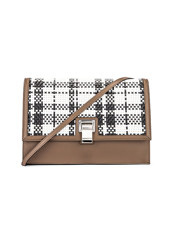 Plaid Lunch Bag in Optic White & Black
